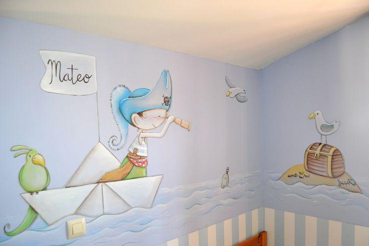 Dibujos de piratas para paredes cerca amb google - Habitaciones infantiles decoracion paredes ...