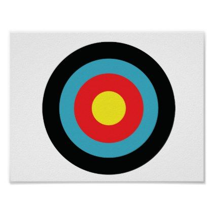 Target Practice Wall Poster White - practice unique personalize diy