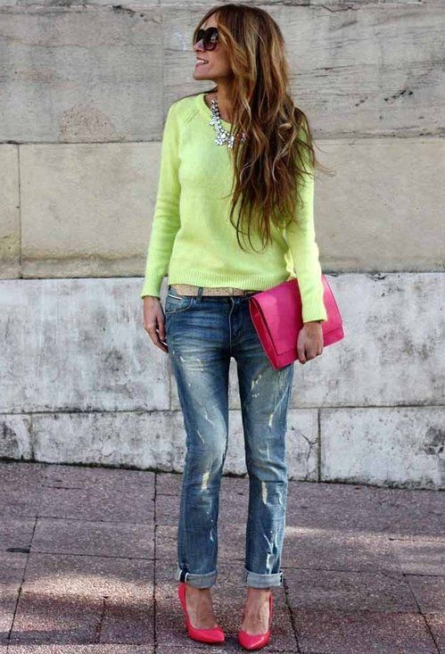 Bright colors for spring