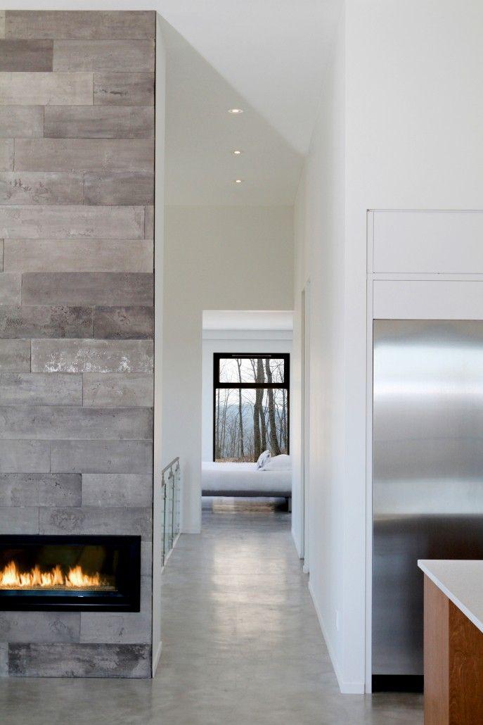 25 Best Concrete Fireplace Ideas On Pinterest