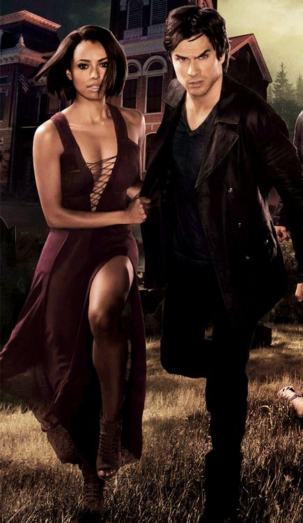 'We will escape this hell!' Bonnie and Damon, hell buddies. Just kidding Kat Graham and Ian Somerhalder