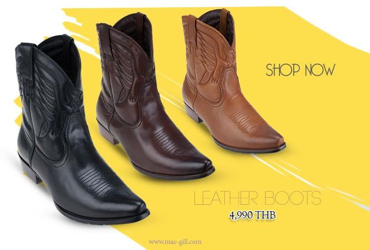 "COME BACK OF ""THE LEATHER STREET STYLE BOOTS"" Manar Cool Leather Boots  ""Save 4,995 bht (from 9,990 baht)"" WEBSITE: www.mac-gill.com    INSTAGRAM: https://instagra ALL SALE : http://en.zalora.co.th/mac-gill รองเท้าบู๊ทสี น้ำตาล / กากี/ ดำ โดดเด่นด้วยการตัดเย็บเป็นลวดลายต่างๆบนรองเท้า เหมาะสำหรับสวมใส่เข้ากับลุคลำลอง วัสดุด้านนอกผลิตจากหนังแท้ ด้านในรองเท้าผลิตจากหนังแท้"