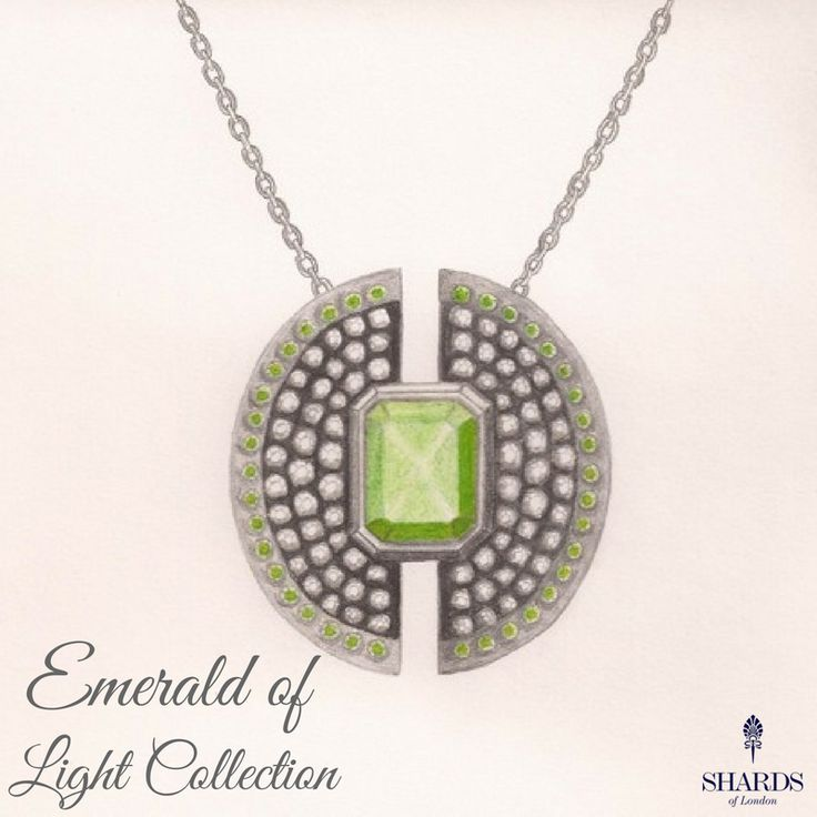 Comprising a necklace, bracelet, earrings and ring, the Emerald of Light collection exudes elegance 💚  👉 www.shardsoflondon.com/emerald-of-light   #Jewellery #Jewelry