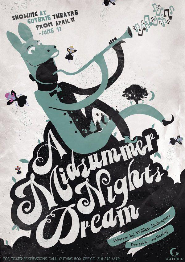 A Midsummer Nights Dream. Theatre Poster