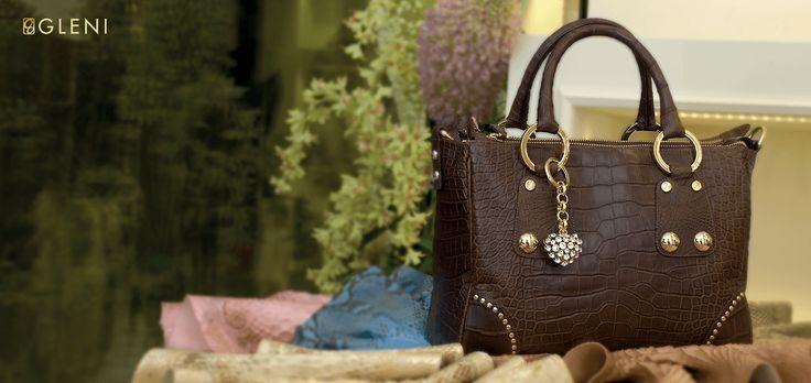 Lussuosa borsa da donna in pelle di coccodrillo