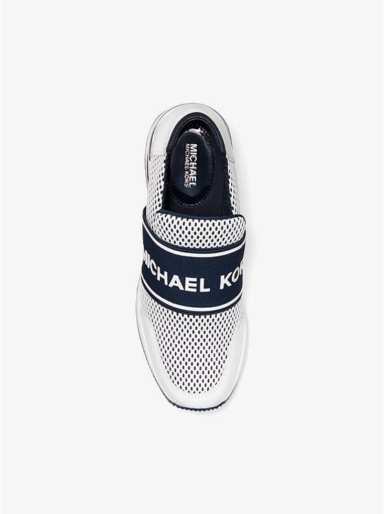 05f06718de73 MICHAEL KORS Felix Extreme Scuba and Leather Trainer. Crafted from mesh  with leather accents