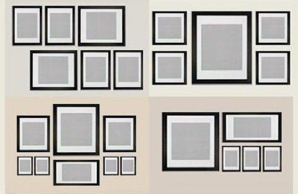 Схемы помогающие правильно развесить картины либо фотографии дома Прикольные картинки, юмор, смешное видео, игры, комиксы, мемы,