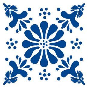 Flower - Blue - Transparent. Price 6,5 € Blomst - Blå - Gennemsigtig folie Pris 45 dkk.