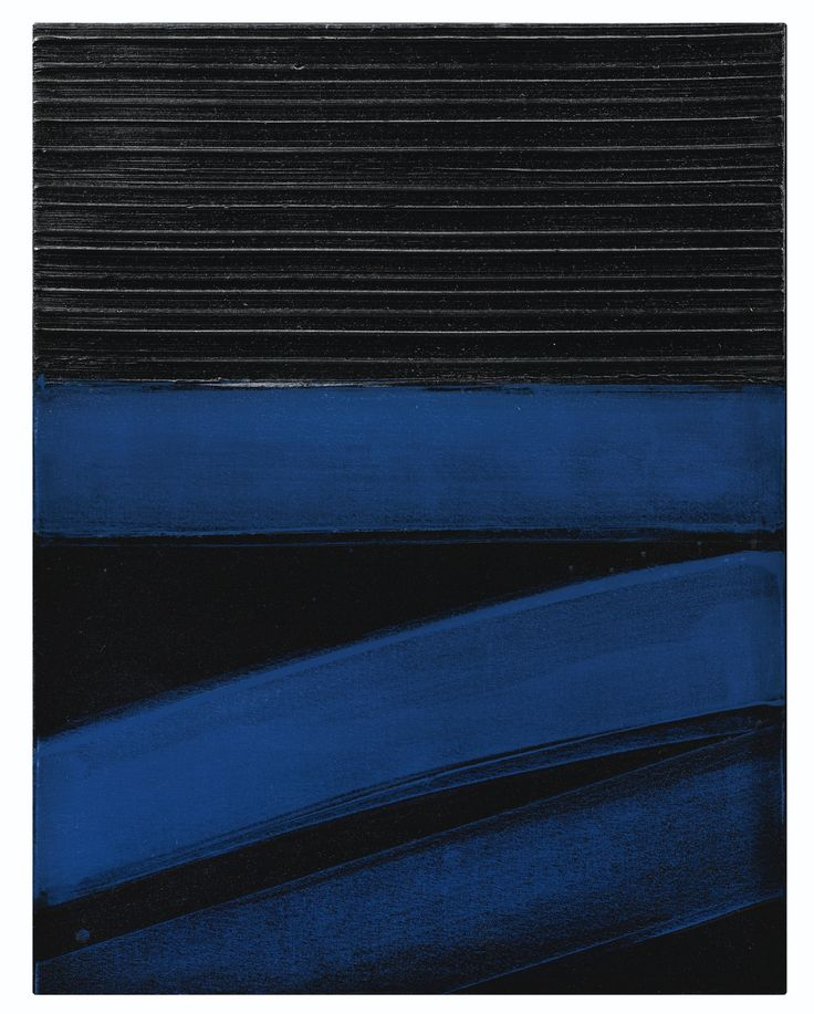 Pierre Soulages N. 1919 PEINTURE 81 X 63 CM, 24 JANVIER 1997 SIGNED, TITLED AND DATED 24,1,97 ON THE REVERSE; OIL ON CANVAS. EXECUTED ON JANUARY 24TH 1997