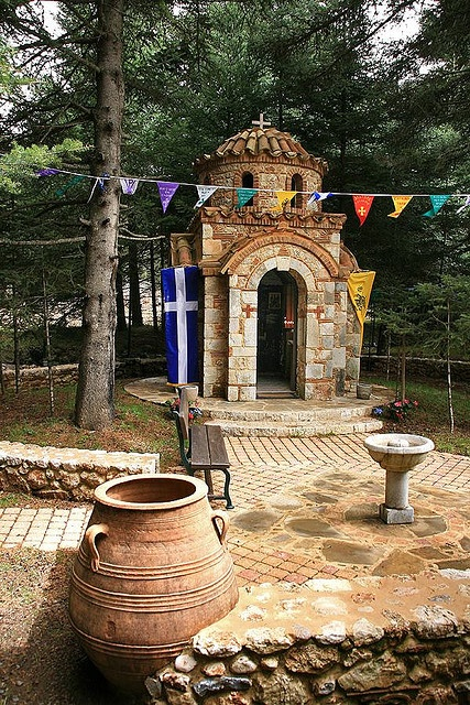 """Little Country Church"".. Menalon mountain in Arcadia, Peloponnese"