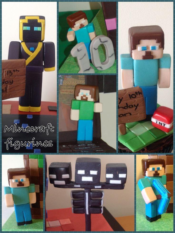 Minecraft Figurines Fondant Gum Paste Pinterest
