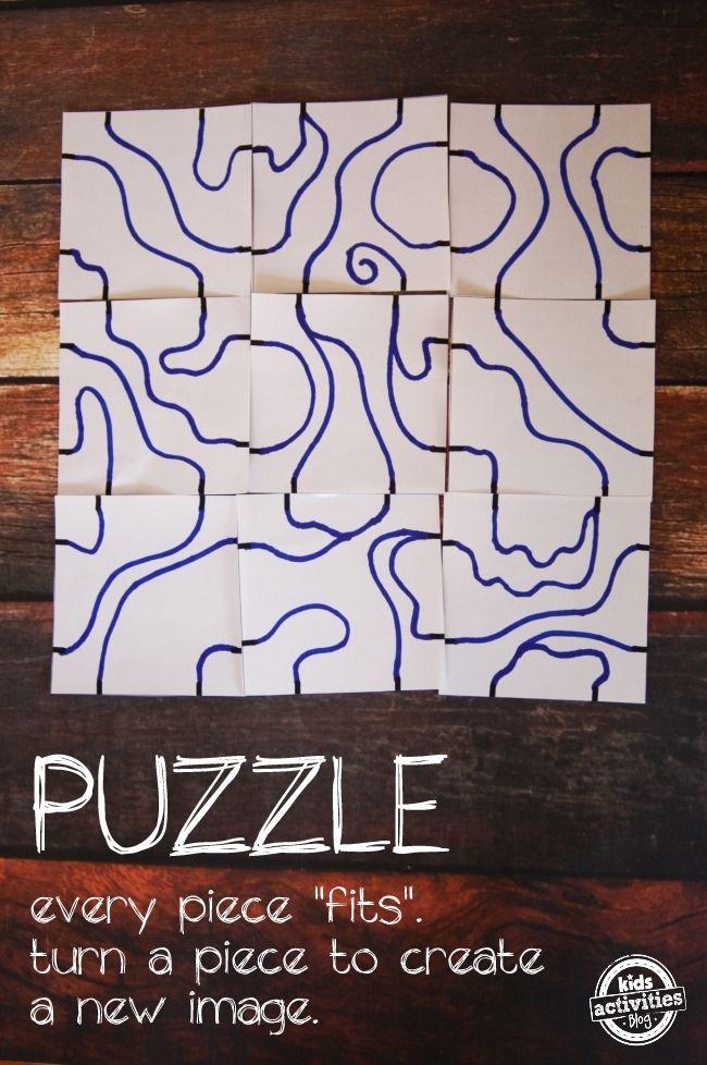 DIY Puzzle Art - collaborative art project for children. @QuirkyMommaSite Super!