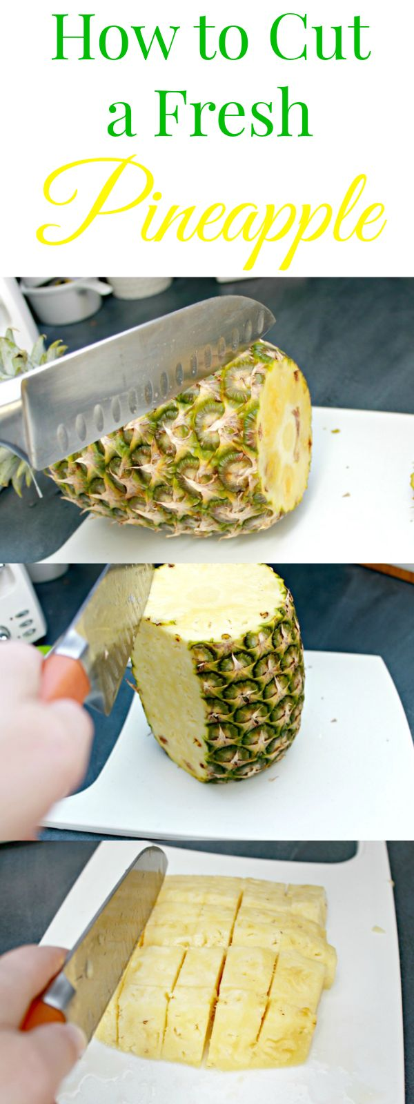 How To Cut A Pineapple Into Chunks In Minutes