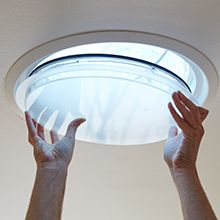 VELUX sun tunnels bring natural light into even the darkest spaces through a specially designed tunnel that passes from roof to ceiling. Read more here.