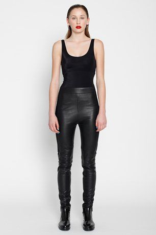 BOOTLEGS leather trousers - ZAMBESI