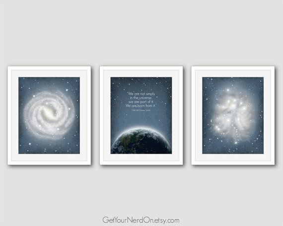 Cosmos-Inspired Astronomy Posters for Space Nerds by GetYourNerdOn