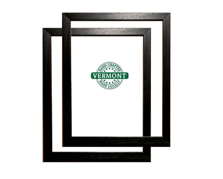 """Set of 2 - BLACK 8x10"""" Picture Frames, Wood, Black Stain Finish w/Glass, Backer & Hardware, Photo Frames Black Picture Frames, 8 in x 10 in by FineFrameandPrints on Etsy"""