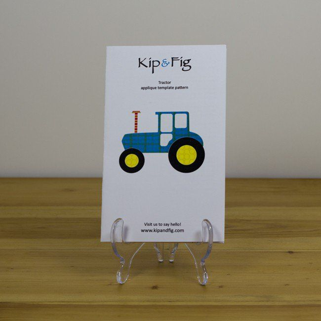 Kip and Fig - Tractor Applique Template