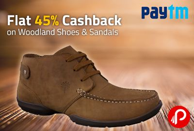 Grab your favourite Woodland shoes and sandals on 45% lesser price. Offer valid on 500+ items on Paytm.  http://www.paisebachaoindia.com/flat-45-cashback-on-woodland-shoes-sandals-paytm/