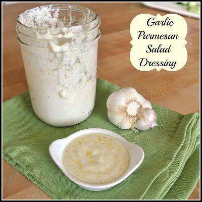 Lower Calorie Garlic-Parmesan Salad Dressing Recipe