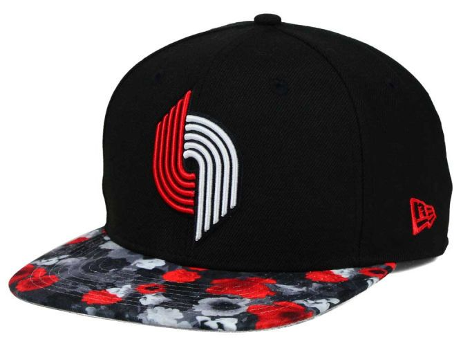 Portland Trail Blazers NBA HWC Floral Shadow 9FIFTY Snapback Cap Hats