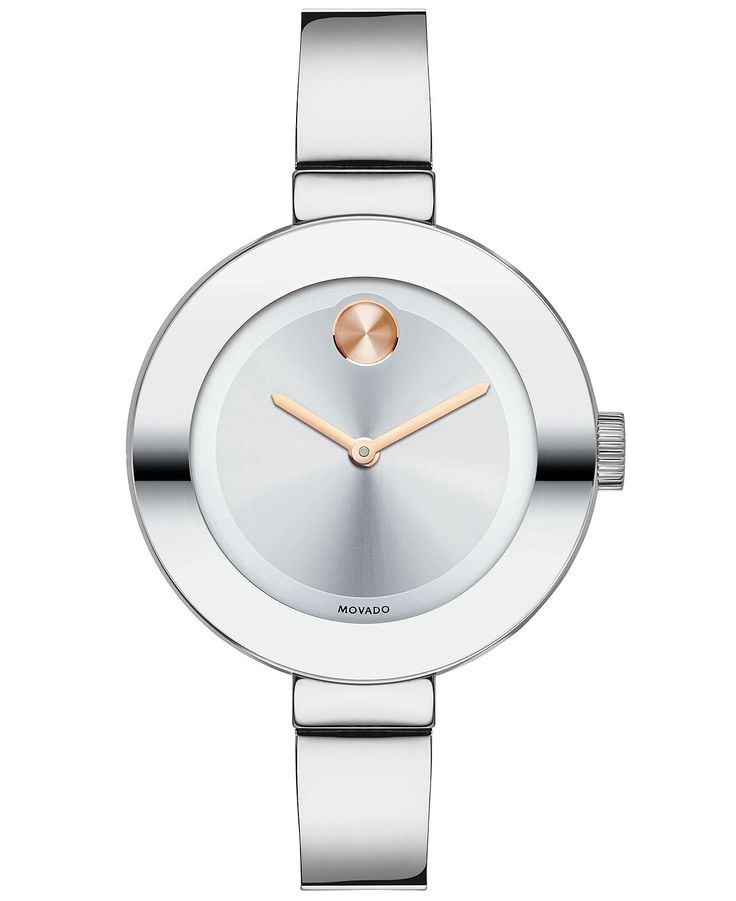 Movado Watch, Women's Swiss Bold Stainless Steel Bangle Bracelet 34mm 3600194 - Watches - Jewelry & Watches - Macy's