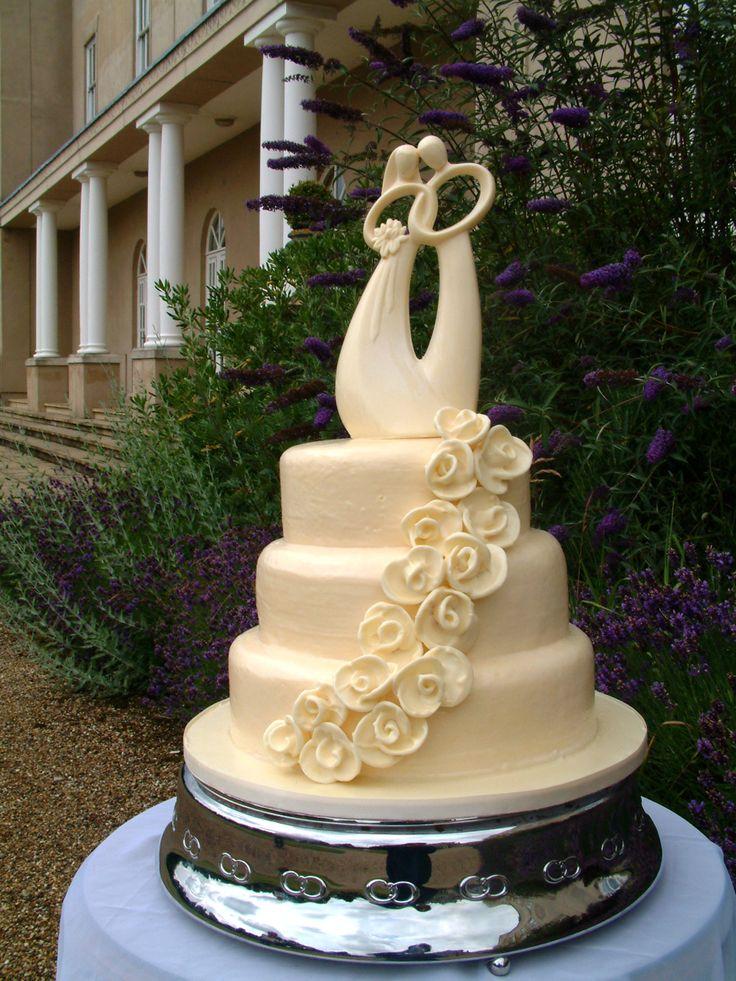 Sweethearts chocolate wedding cake design. #TieredCakes #ChocolateWeddingCakes