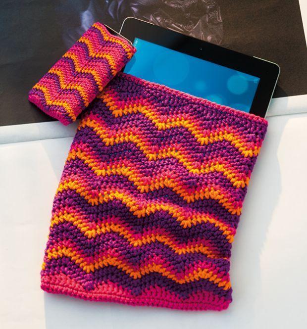 Elegantní háčkované obaly na telefony a tablety | i-creative.cz - Kreativní online magazín a omalovánky k vytisknutí