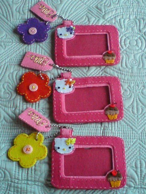 luggage tag or mini felt photo frame.
