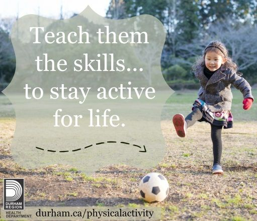 Kids who are physically literate have the basic skills to participate in a wide variety of sports and activities. They are more likely to remain active throughout their life because they have the confidence and ability to be involved in a greater number of physical activities.