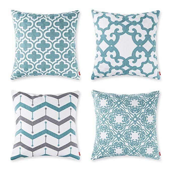teal throw pillows