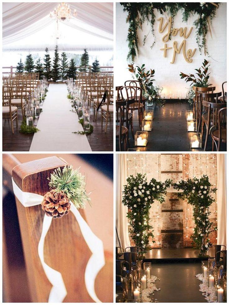 winter huwelijksceremonie
