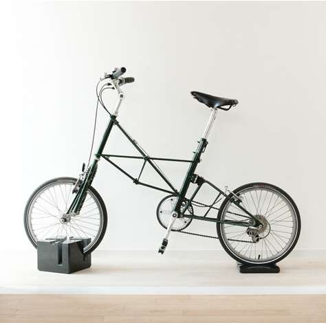 Masonry Block Cycle Storage - The Milestone Bike Stand is a Minimalist Marble Sculpture (GALLERY)