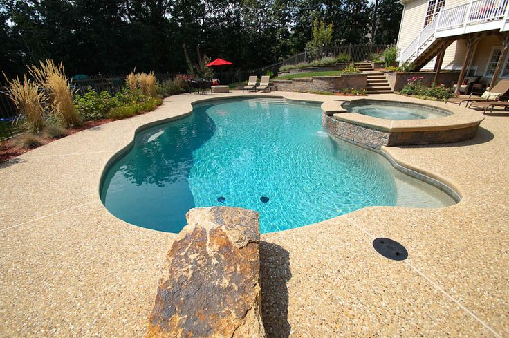 Pool Jump Rock Make It Tall Bench Height Or It Is A
