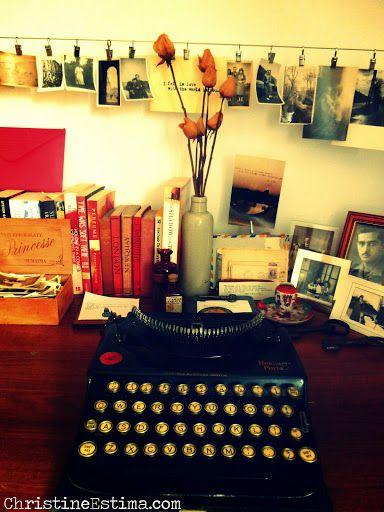 #writing #vintage #antique #fleamarkets #typewriter #photographs #antiques #desk #inspiration #write #writer #spaces #desk #typewriters #rare #fleamarket #letters #love #loveletters #letter #telegram #telegrams #quotes