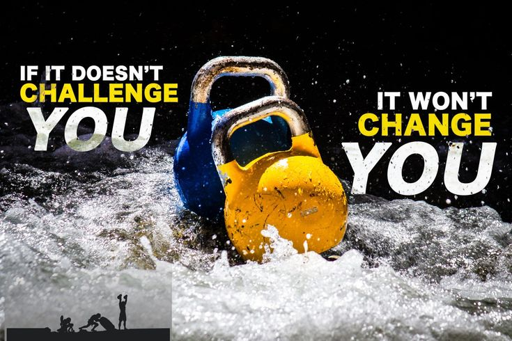 Motivational Kettlebell Quote: IF IT DOESN'T CHALLENGE YOU…