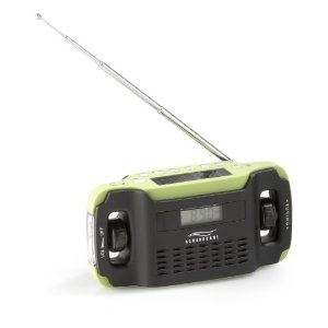 Aquabourne Wind up & Solar Radio AM: Amazon.co.uk: Electronics splash proof £19. Not sure how long it plays for or if there's a switch off timer