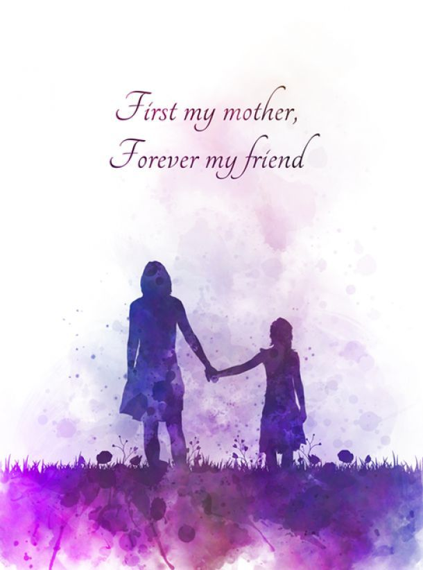 Mother Daughter Quote Art Print Inspirational Mothers Day Gift Love Wall Art Hom Art D Art Prints Quotes Daughter Quotes Mother Daughter Quotes