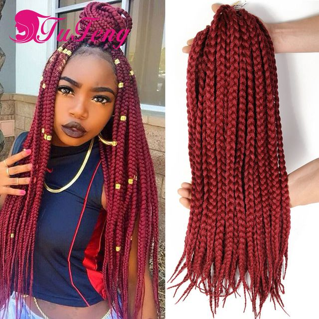crochet box braids hair kinky twist hair synthetic expression braiding ...