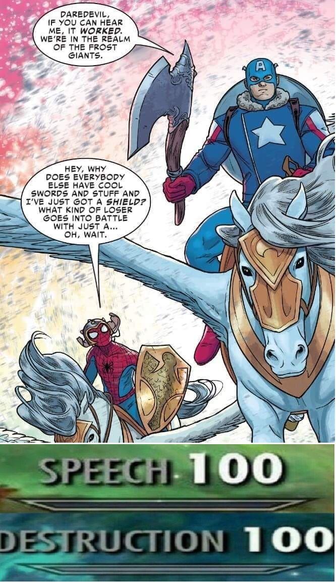Oof    spooder   Marvel funny, Funny comics, Marvel