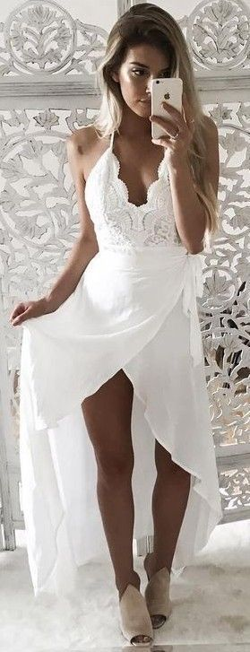 White Maxi Dress                                                                             Source