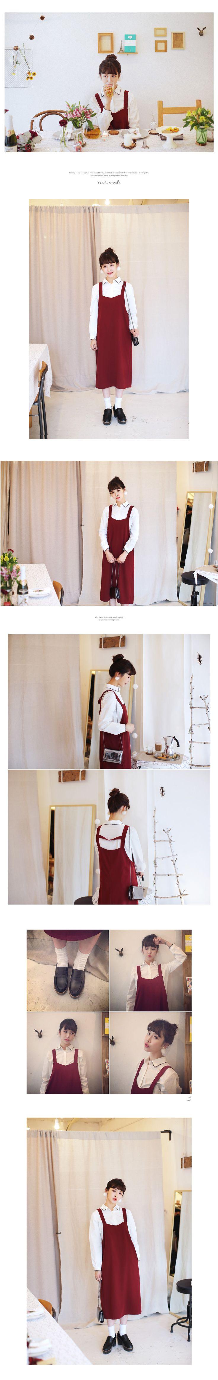 ディープカラーサロペットワンピース・全3色ドレス・ワンピドレス・ワンピ|レディースファッション通販 DHOLICディーホリック [ファストファッション 水着 ワンピース]