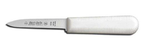 """Dexter-Russell Paring Knife, Cook's Style Parer, 3-1/4"""" Blade. White by Dexter Russell. $11.78. NSF Certified. Blade: 3¼ inches. Blade has Individually Ground and Honed Edge. White, Slip Resistant Polypropylene Handle. Model: Item #15303 Product #S104-PCP. Dexter Russell 3-1/4"""" Paring Knife White Handle"""