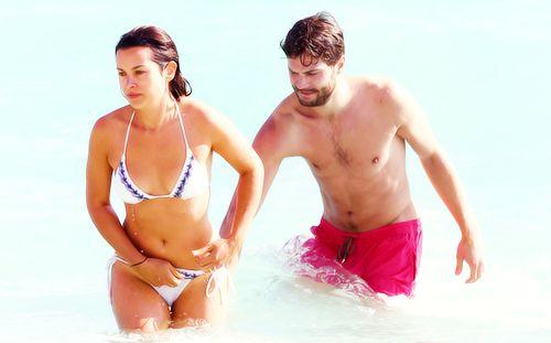 Jamie Dornan & Amelia Warner at the beach in Miami. | Jamie Dornan News