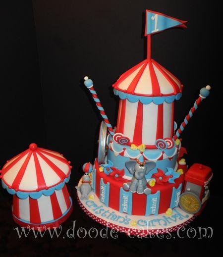 Circus cake: Circus Theme, Circus Tent, Circus Cakes, Smash Cakes, Carnivals Theme, Parties Ideas, Carnivals Parties, Circus Parties, Carnivals Cakes