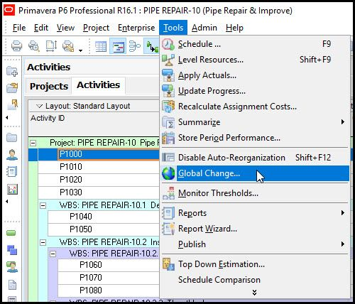 How to Insert an Activity ID Suffix in Primavera P6
