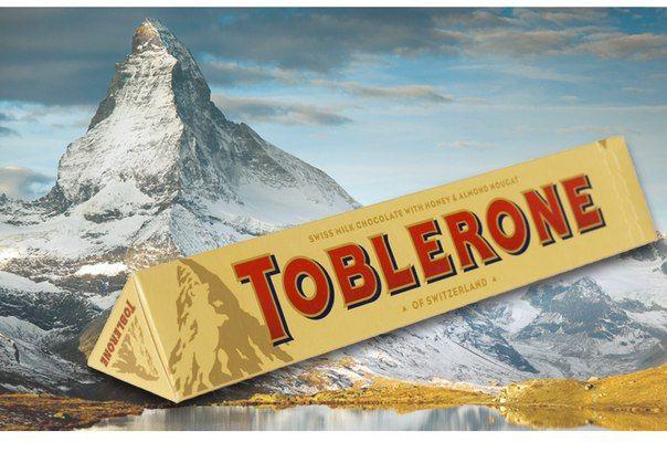 Toblerone (Таблерон, 100г) молочный с нугой. В наличии 4 вкуса. Цена на сайте ChocoShop.com.ua