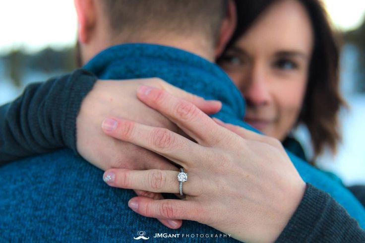 Wintery wedding ring.