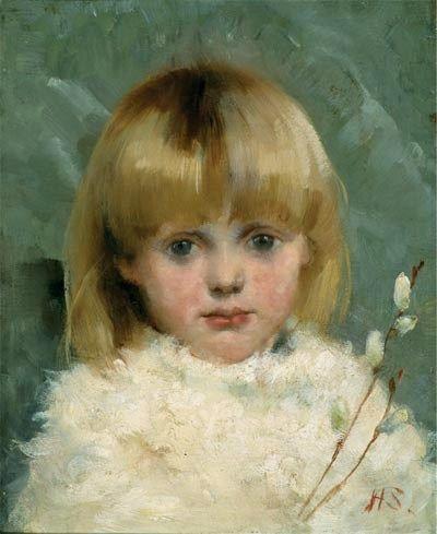Helene Schjerfbeck, Portrait of a girl, 1886. Tästä maalauksesta pidän ihan hirveästi!