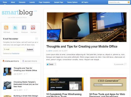 Mejores 50 imágenes de Best WordPress Blog Themes – Blog Templates ...